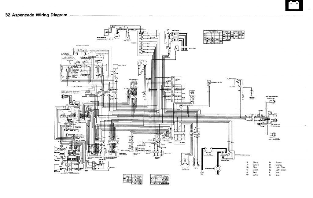 1982 GL1100 Aspencade Wiring Diagram | Steve Saunders Goldwing ForumsSteve Saunders Goldwing Forums