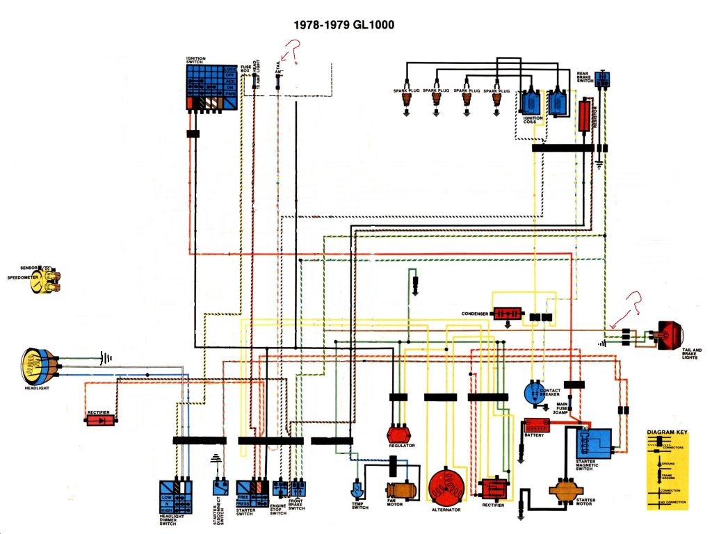 check my gl1000 modified wiring schematic. any advice or tweeks?   steve  saunders goldwing forums  steve saunders goldwing forums
