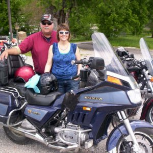 Me and my wife at the time Law Enforcement poker run